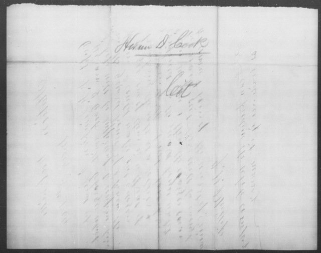 Cook, Henry D - State: [Blank] - Year: 1865