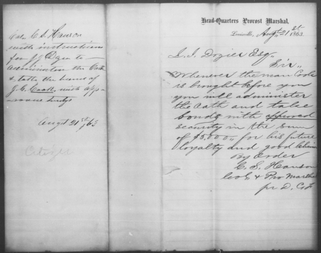 Cook, J G - State: [Blank] - Year: 1863