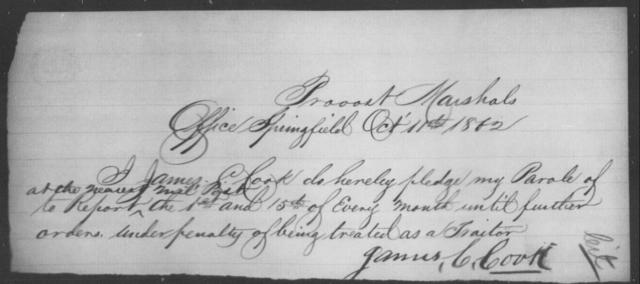 Cook, James C - State: Missouri - Year: 1865