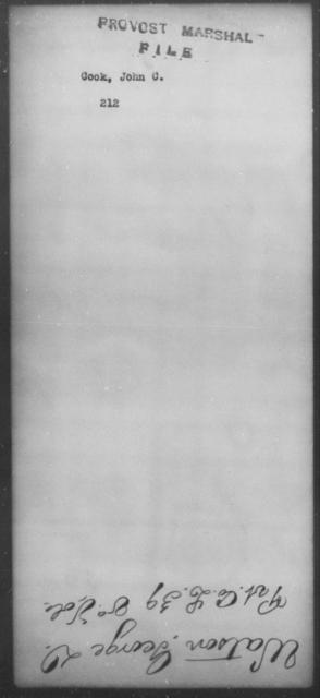 Cook, John C - State: [Blank] - Year: [Blank]