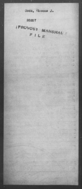 Cook, Thomas J - State: [Blank] - Year: [Blank]