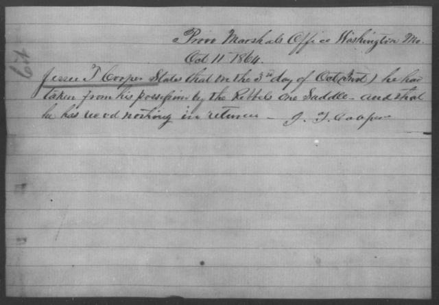 Cooper, Jessee T - State: Missouri - Year: 1864