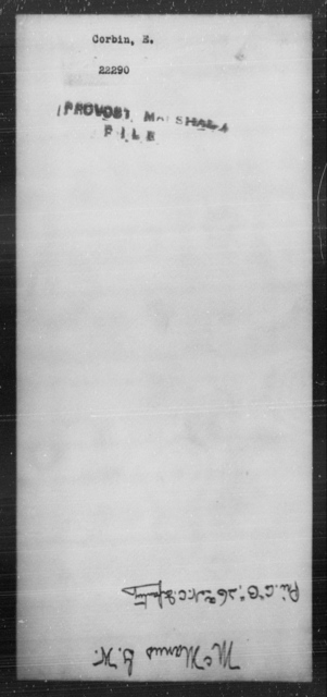Corbin, E - State: [Blank] - Year: [Blank]