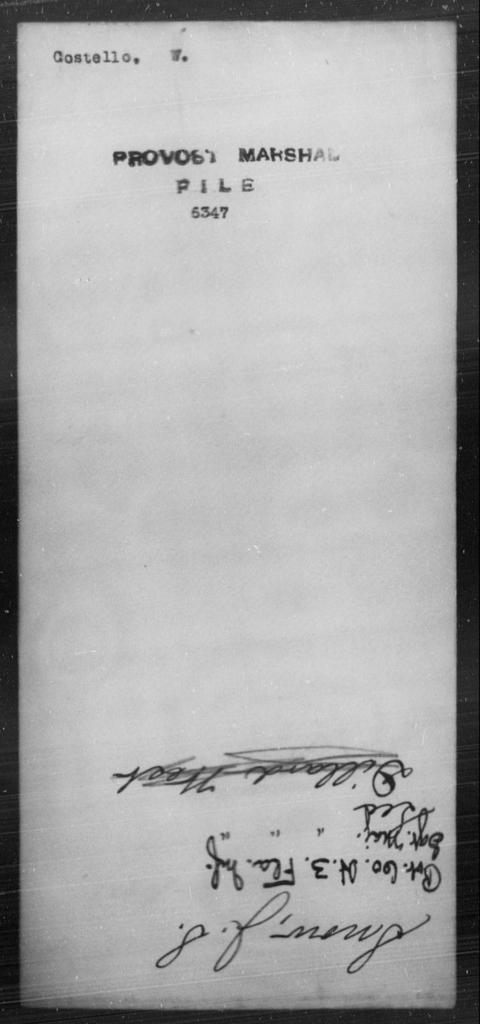 Costello, W - State: [Blank] - Year: [Blank]
