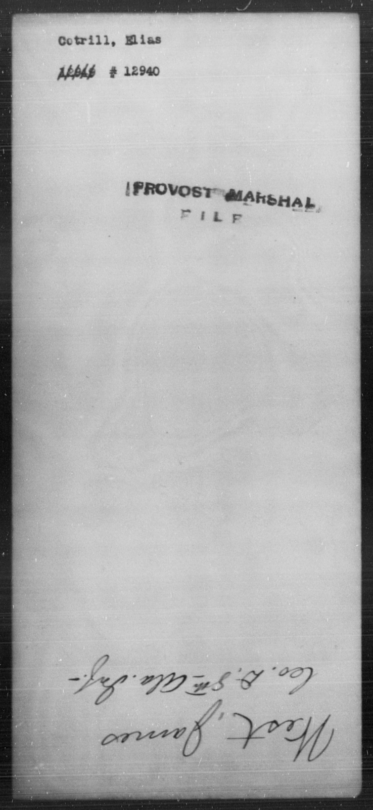 Cotrill, Elias - State: [Blank] - Year: [Blank]