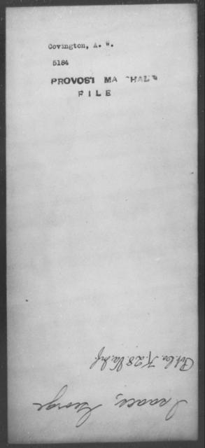 Covington, A W - State: [Blank] - Year: [Blank]