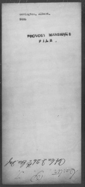 Covington, Albert - State: [Blank] - Year: [Blank]