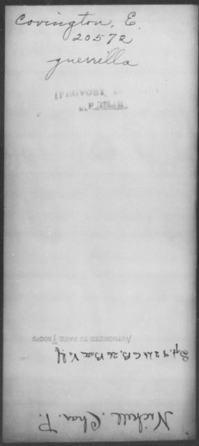 Covington, E - State: [Blank] - Year: [Blank]