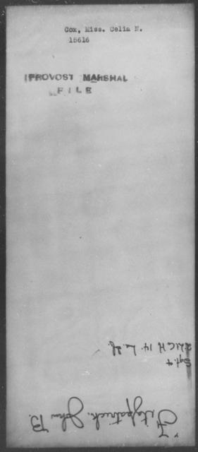 Cox, Celia N - State: [Blank] - Year: [Blank]