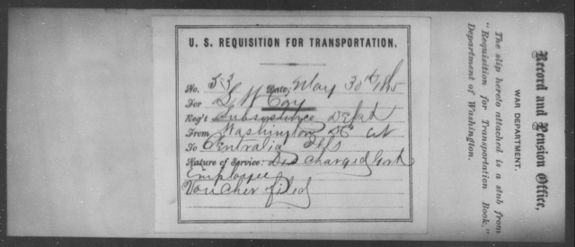 Coy, S W - State: [Blank] - Year: 1865