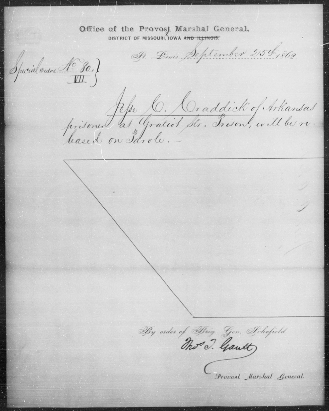 Craddick, Jesse C - State: Arkansas - Year: 1862