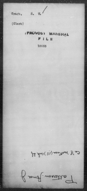 Craft, S W - State: [Blank] - Year: [Blank]