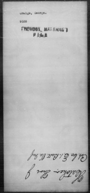 Craige, George - State: [Blank] - Year: [Blank]