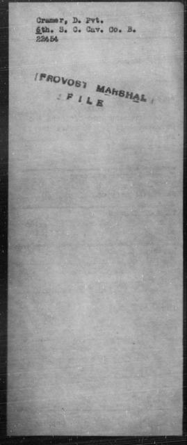 Cramer, D - State: [Blank] - Year: [Blank]