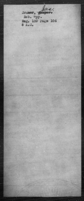 Cramer, Jas - State: [Blank] - Year: [Blank]
