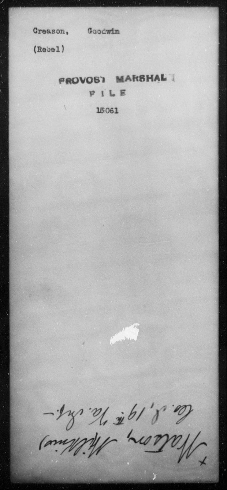 Creason, Goodwin - State: [Blank] - Year: [Blank]