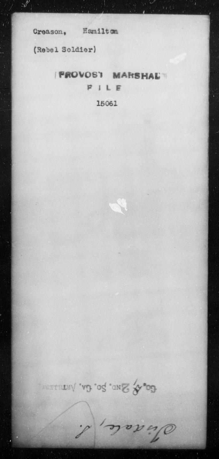 Creason, Hamilton - State: [Blank] - Year: [Blank]