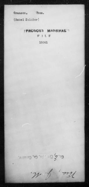 Creason, Thos - State: [Blank] - Year: [Blank]