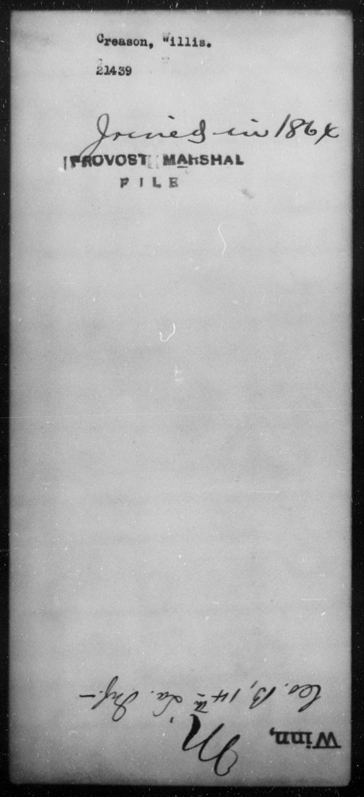 Creason, Willis - State: [Blank] - Year: [Blank]
