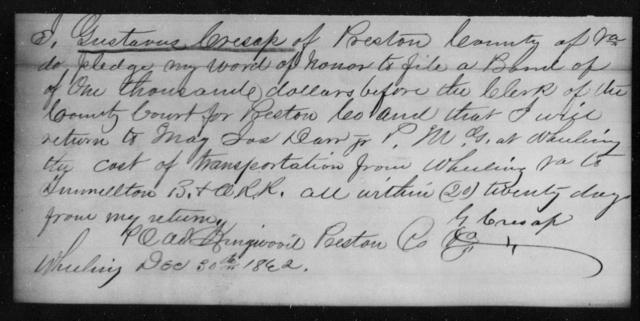 Cresap, Gustaves - State: Virginia - Year: 1862