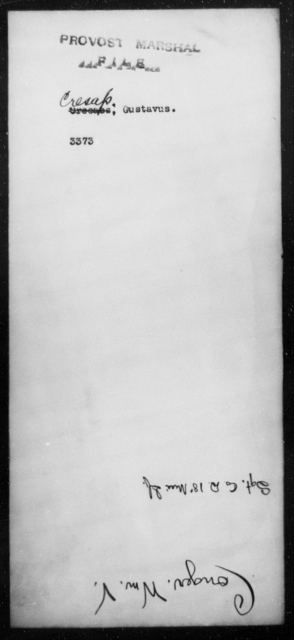 Cresap, Gustavus - State: Virginia - Year: 1862