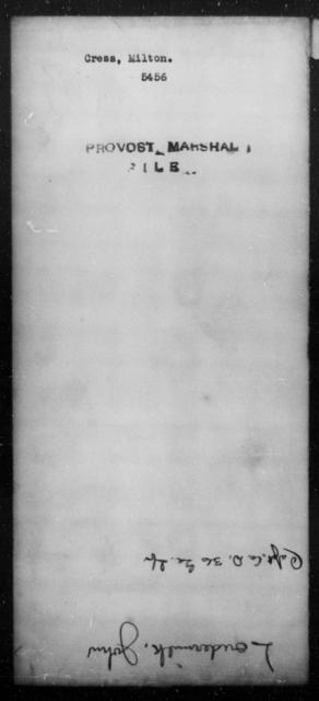 Cress, Milton - State: [Blank] - Year: [Blank]
