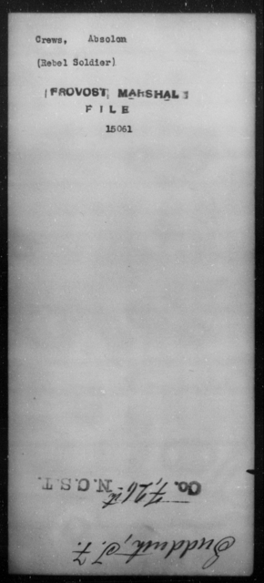 Crews, Absolom - State: [Blank] - Year: [Blank]
