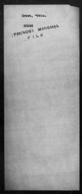 Crews, Edwin - State: [Blank] - Year: [Blank]