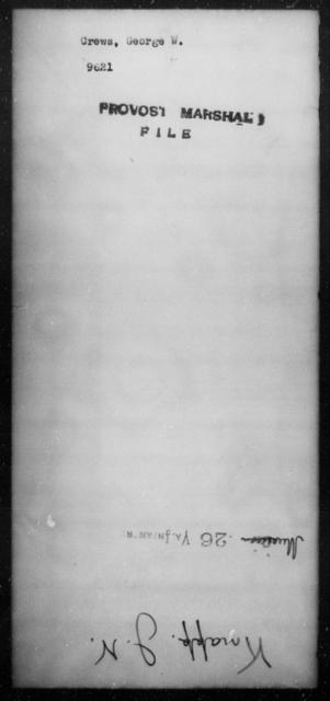 Crews, George W - State: [Blank] - Year: [Blank]