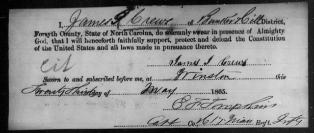 Crews, James J - State: [Blank] - Year: 1865