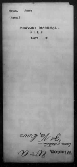 Crews, James - State: [Blank] - Year: [Blank]