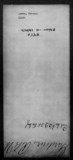 Crews, Thomas - State: [Blank] - Year: [Blank]