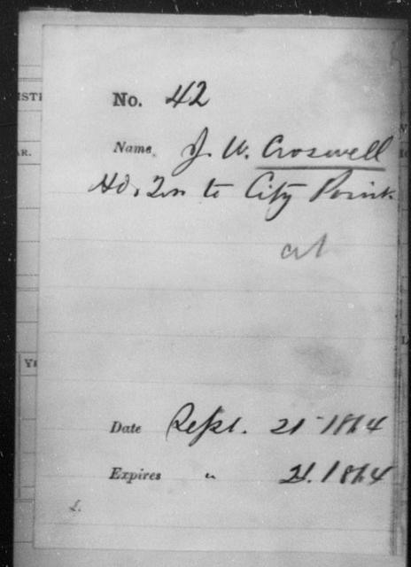 Croswell, J W - State: [Blank] - Year: 1864