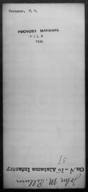 Crutcher, W T - State: [Blank] - Year: [Blank]
