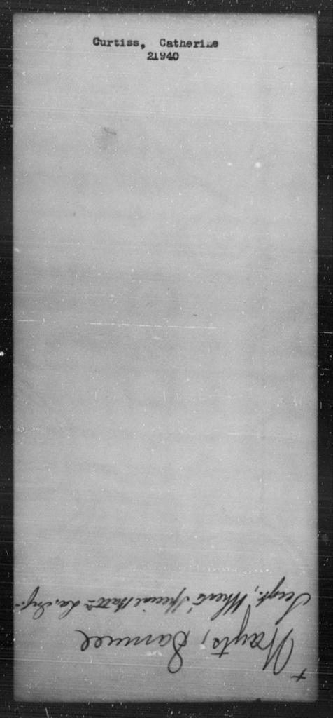 Curtiss, Catnerine - State: [Blank] - Year: [Blank]