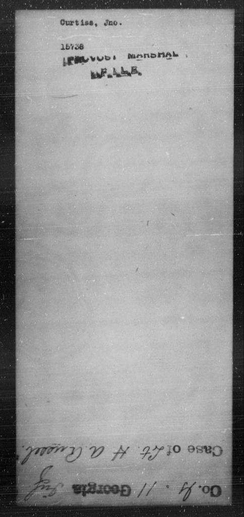 Curtiss, Jno - State: [Blank] - Year: [Blank]