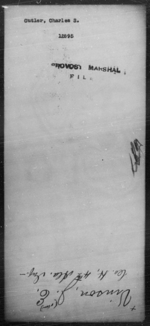 Cutler, Charles S - State: [Blank] - Year: [Blank]