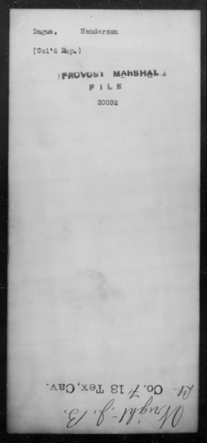 Dague, Henderson - State: [Blank] - Year: [Blank]
