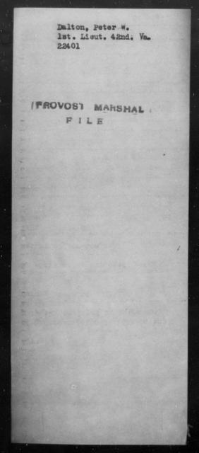 Dalton, Peter W - State: Virginia - Year: [Blank]