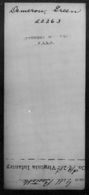 Dameron, Green - State: [Blank] - Year: [Blank]