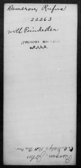Dameron, Rufus - State: [Blank] - Year: [Blank]