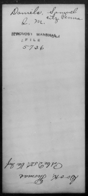 Daniels, Samuel - State: Pennsylvania - Year: [Blank]