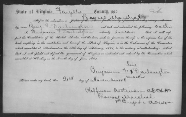 Darlington, Benjamin F - State: Virginia - Year: 1861