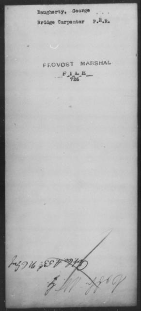 Daugherty, George - State: [Blank] - Year: [Blank]