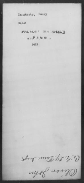 Daugherty, Henry - State: [Blank] - Year: [Blank]