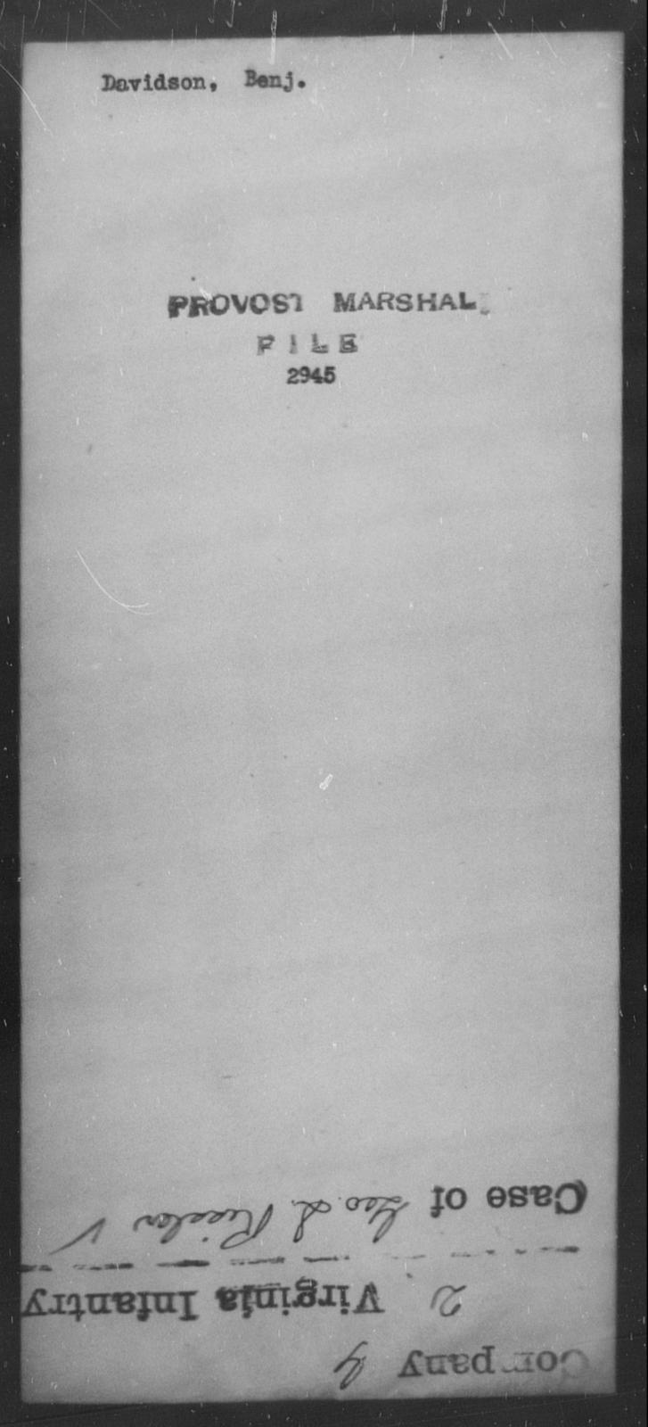 Davidson, Benj - State: [Blank] - Year: [Blank]