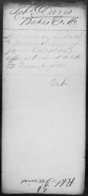Davis, Robt - State: Missouri - Year: 1863