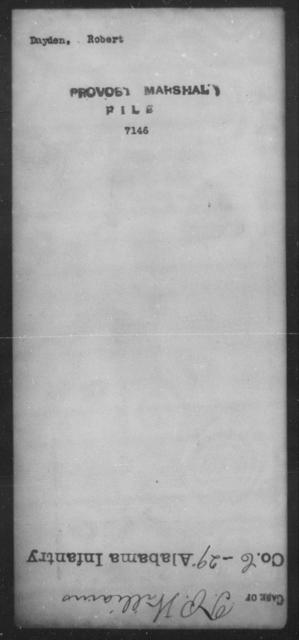 Dayden, Robert - State: [Blank] - Year: [Blank]