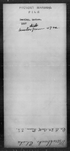 Deatley, Mathew - State: [Blank] - Year: [Blank]
