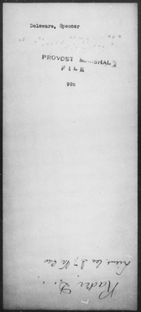 Deleware, Spencer - State: [Blank] - Year: [Blank]